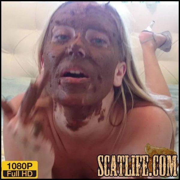 Shit on Self – Brown wife – Full HD 1080 (Poop Videos, Scat Solo, Smearing, defecation, poop) 25/09/2017