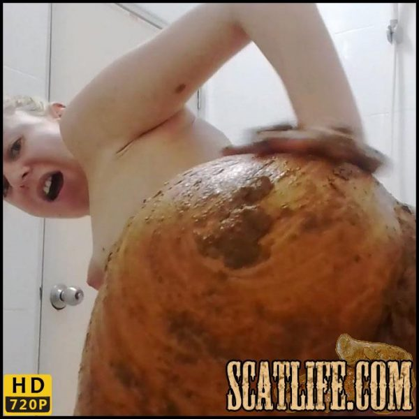 Sexy, Slow Big Shit Smearing On My Ass – MissAnja – HD 720p (Poop Videos, Scat, Smearing) 21/10/2017