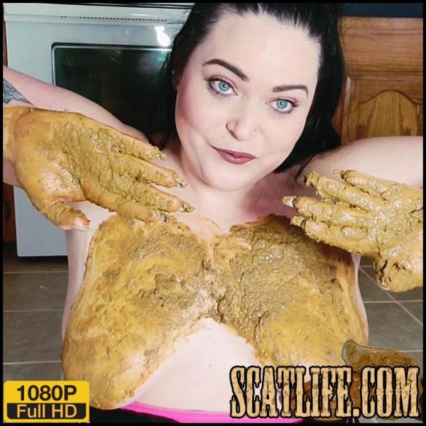 Big Pile – Poop in hand then Smearing on boobs – Lillyxxx – Scat solo