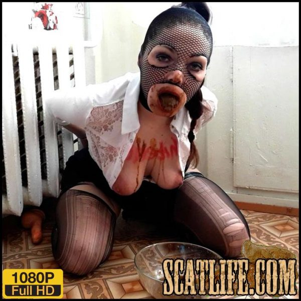 Shit Eating – Tied slave eats his shit – ScatLina – Poop Videos, Scat solo, Toilet Slavery
