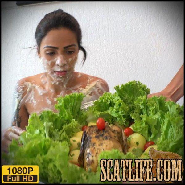 Lesbian Scat Domination - Bread With Scat - Jaqueline